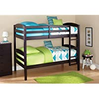 Mainstays Twin over Twin Wood Bunk Bed (Espresso)
