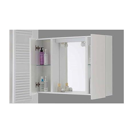 Feridras specchiera bagno 17x91x61 2 ante bianco linea mondo brand 606105 - Specchiera bagno amazon ...