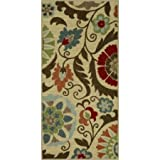 Kitchen Rugs Dash and Albert Kitchen Rug, Floral Medallion with Durable print kitchen (1'8