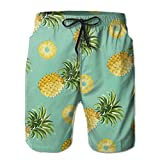 Pineapple Men's Summer Shorts Quick-Drying Swimming Surf Trunk