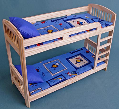 """Furniture for Barbie dolls Bunk Bed wooden DOLLHOUSE miniature self-production kit 1:6 scale for 12"""" dolls MH, Blythe, YOSD role-playing games Girls Gift"""