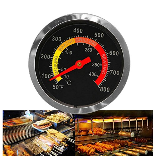 Auxsoul 50-400℃ Stainless Steel BBQ Smoker Grill Thermometer Kitchen Temperature Gauge