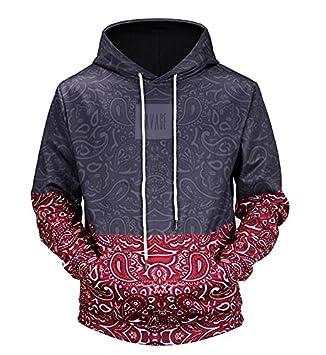 Nuevos Sudaderas Sudadera con capucha invierno Hoody 3D Patchwork Sportwear Joven ropa de color: Amazon.es: Deportes y aire libre