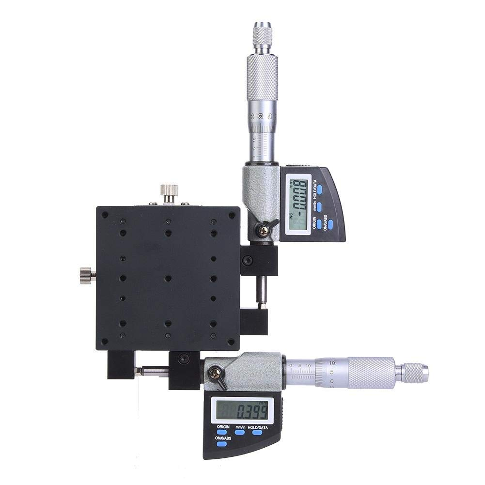 Linear Stage SEMXY80-AS 80x80mm 0.002mm Micrometer Platform Digital Display Linear Stage Platform Used in Production Machinery,Inspection Equipment