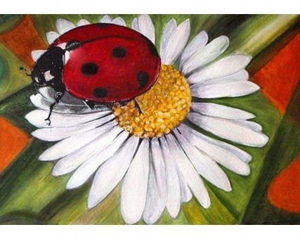 WiHome 5D Diamond Painting Kits for Adults Full Drill Chamomile and Ladybug Embroidery Rhinestone Painting