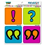 Graphics and More Punctuation Exclamation Question Mark Quotation Mag-Neato's Automotive Car Refrigerator Locker Vinyl Magnet Set