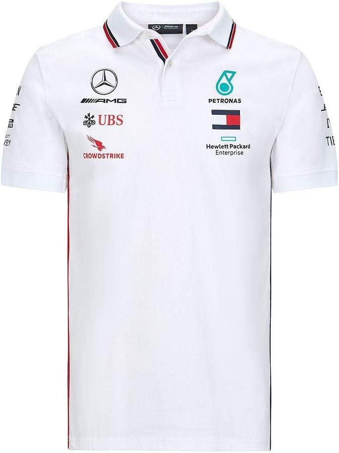 XL Blanc Saison 2020 Polo /écurie Mercedes-AMG Petronas Official Formula one