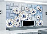 LHDLily 3D Nature Wallpapers Ceramic Relief Tv Backdrop Wallpapers For Living Room Home Decoration 200cmX150cm