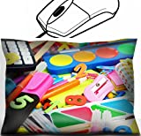 MSD Mouse Wrist Rest Office Decor Wrist Supporter Pillow design: 32155024 Full background of school supplies