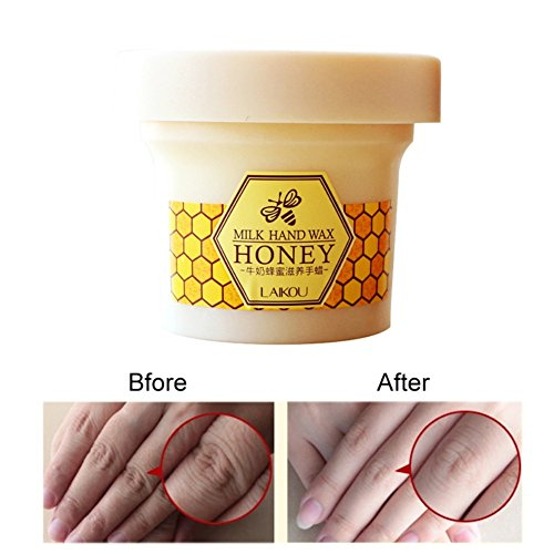 Cocohot Milk Honey Hand Wax Hand Mask Exfoliating Hydrating Whitening Skin Care Peel Off Mask – Hand Care Cream For Woman/Man (A)