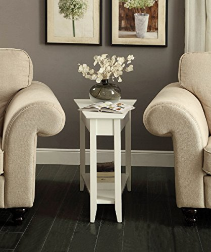 Convenience Concepts American Heritage Wedge End Table, White