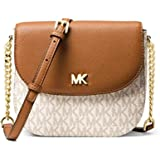 MICHAEL KORS Womens Mott Logo Dome Crossbody Bag, OFF WHITE/BROWN-32S8GF5C0B