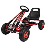 Wido Kids Ride On Pedal Racing Go Kart Red/Black Ages 3-6 Years
