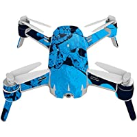 Skin For Yuneec Breeze 4K Drone – Blue Skulls | MightySkins Protective, Durable, and Unique Vinyl Decal wrap cover | Easy To Apply, Remove, and Change Styles | Made in the USA