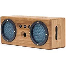 Bongo Bamboo Bluetooth Speaker - Portable & Wireless Retro Wood Design - Vintage Blue