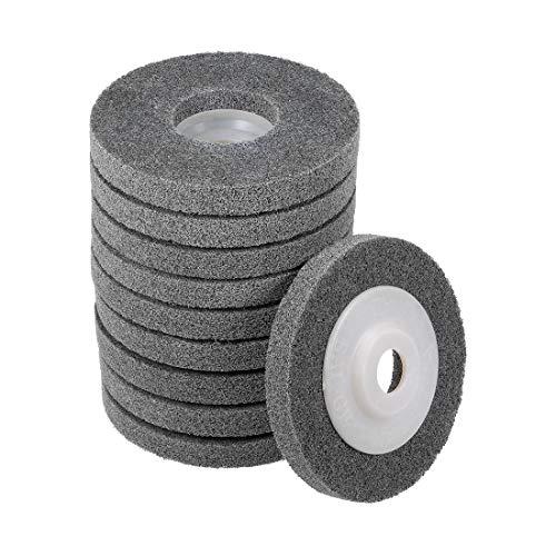 uxcell 4 Inch Nylon Fiber Polishing Wheel Sanding Buffing Disc Abrasive Wheels for Angle Grinders 10 Pcs ()