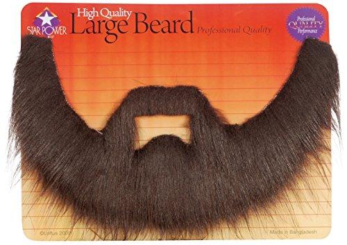 Loftus International Professional Quality Long Shaggy Beard & Mustache Set, One Size, Brown -