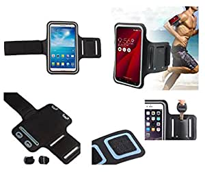 DFV mobile - Armband Professional Cover Neoprene Waterproof Wraparound Sport with Buckle for => SKK Mobile X44 > Black