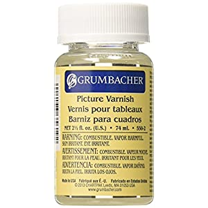 Grumbacher Picture Varnish for Oil & Acrylic Paintings 2-1/2 Oz. Jar, #550-2