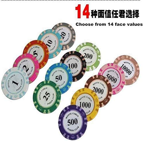 Een set van 140 poker chips voor Texas Hold'em, Blackjack, casino gokken-Multicolor, Spelmunten, Las Vegas Baccarat Props, Mahjong Token Cruise Number Game