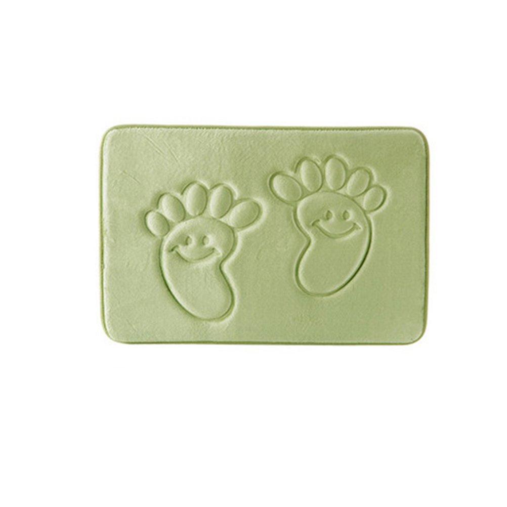 Tappetino memory foam BESTOMZ Tappeto da bagno assorbente e antiscivolo 40x60 cm (Verde)