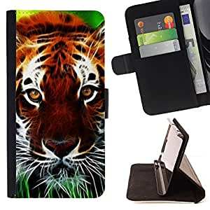 Jordan Colourful Shop - cat nature Africa orange animal For Samsung Galaxy S4 Mini i9190 - Leather Case Absorci???¡¯???€????€???????&