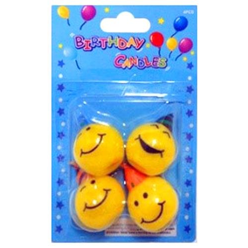 Smile Face Birthday Candles (Pack of 12) Birthday Decoration Party Supply (Prom Themes Ideas)