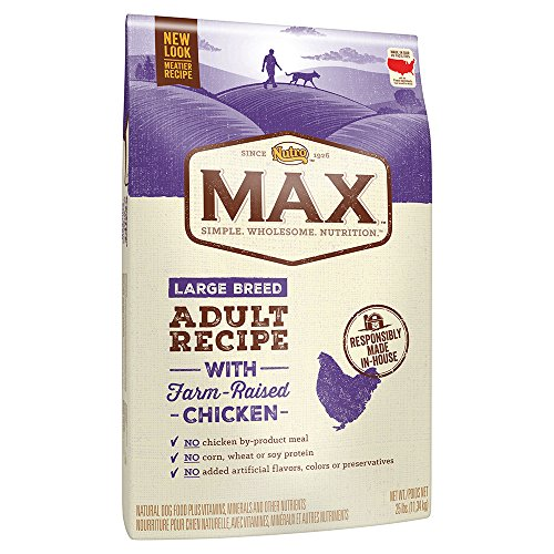 NUTRO MAX Large Breed Adult Recipe With Farm Raised Chicken Dry Dog Food, (1) 25-lb. bag; Rich in Nutrients and Full of Flavor for Large Breed (Canine Plus Chicken)