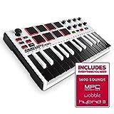 Akai Professional MPK Mini MKII LE White | White, Limited Edition 25 Key Portable USB MIDI Keyboard...