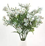 "pictures of flower arrangements 25"" Long Stem of Artificial Flowers Faux Plants for Tall Vase Fake Silk Flower Arrangements Home Wedding Decoration 5 Pieces (Blue)"