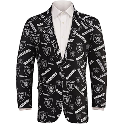 Used, NFL Mens Repeat Logo Ugly Business Jacket (Oakland for sale  Delivered anywhere in Canada
