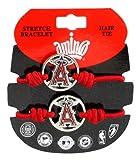 MLB Los Angeles Angels Stretch Bracelet & Hair Tie, 2-Pack