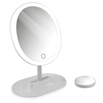 Spiegel Ablage Schminkspiegel Standspiegel Make-up Mobiler Stand Schmink Spiegel Doppel Seitig