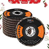 """4-1/2"""" X 7/8"""" Flap Disc 80 Grit 10-Pack,Tacklife Premium Aluminum Oxide Flap Wheel, for Grinding, Sanding and Finishing -Passed Strict MPA EN13743 Test 