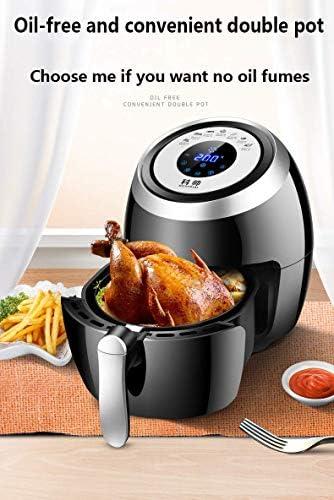 zyl Friteuse à air friteuse à air sans Huile avec Recette Panier de sécurité pour Lave-Vaisselle Aliments sains frits