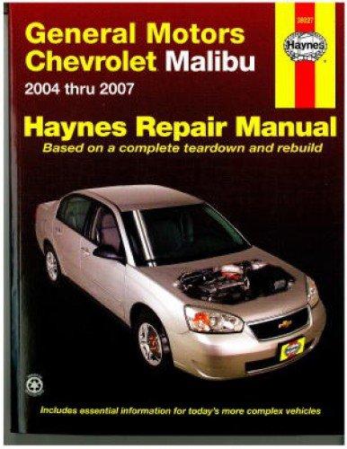 NOS-H38027 General Motors Chevrolet Malibu 2004-2007 Haynes Repair Manual