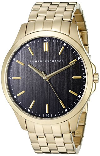 Mens Designer Watch (Armani Exchange Men's AX2145  Gold  Watch)