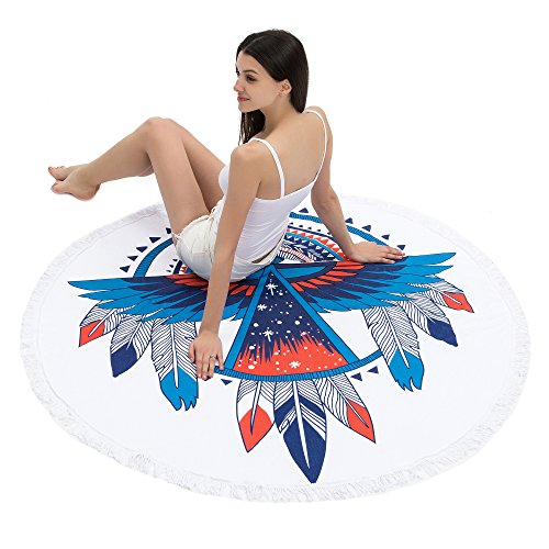Redonis Round Beach Towel  Oversize Colorful Beach Blanket 6
