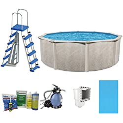 "Cornelius Pools Phoenix 24' x 52"" Frame Above Ground Pool Kit with Pump & Ladder"