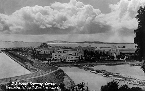 San Francisco, California - US Naval Training Center on Treasure Island Photograph (24x36 SIGNED Print Master Giclee Print w/ Certificate of Authenticity - Wall Decor Travel - Hours Center Francisco San