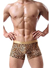 Louis Rouse Men's Smooth Sexy U Shaped Leopard Boxer Shorts Underwear