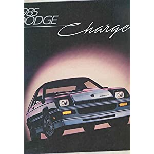 1985 Dodge Charger & Shelby Turbo Brochure