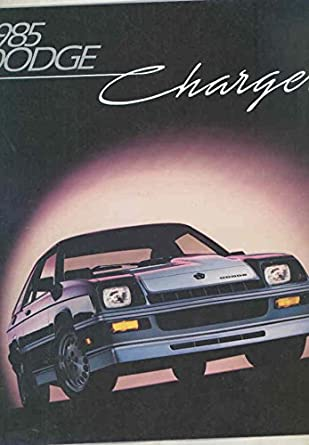 Amazon.com: 1985 Dodge Charger & Shelby Turbo Brochure: Entertainment Collectibles