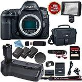Canon EOS 5D Mark IV DSLR Body - with Canon BG-E20 Battery Grip Video Bundle