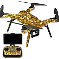 MightySkins Protective Vinyl Skin Decal for 3DR Solo Drone Quadcopter wrap cover sticker skins Gold Chips