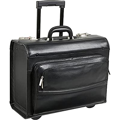 well-wreapped AmeriLeather Leather Rolling Laptop-Friendly Catalog Case