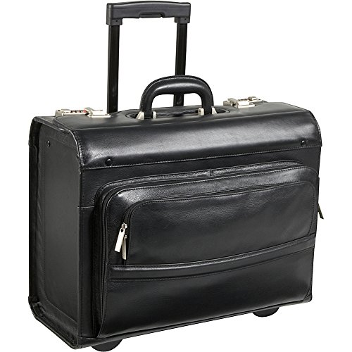 AmeriLeather Leather Rolling Laptop-Friendly Catalog Case (Black) by Amerileather