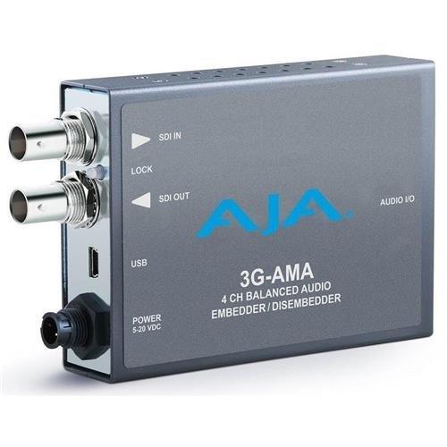 AJA 3G-SDI 4-Channel Analog Balanced Audio Embedder/Disembedder Mini-Converter