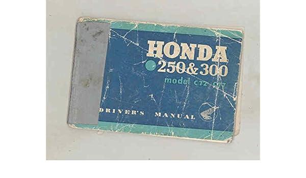 amazon com 1961 1962 honda 250 \u0026300 model c72 c77 dream motorcycle