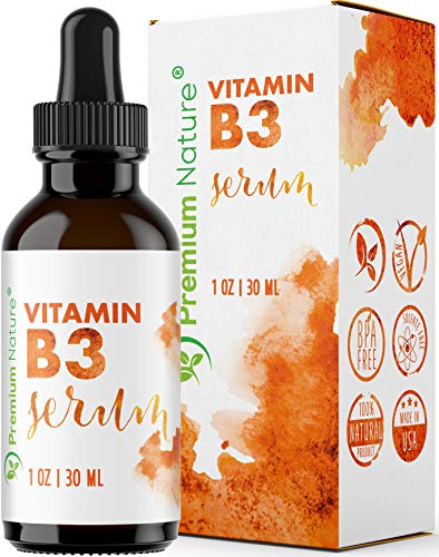 Vitamin B3 Facial Serum Niacinamide 5% - Moisturizing Face Cream Pore Minimizer Tightener Wrinkle Reducer & Collagen Booster Skin Lightening Anti Aging Dark Spot Fine Lines Age Packaging May Vary (Best Way To Tighten Facial Skin)